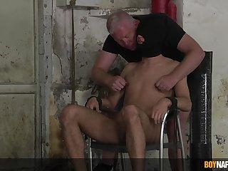 Master Sebastian Kane burst dominates submissive Jak Wycombe