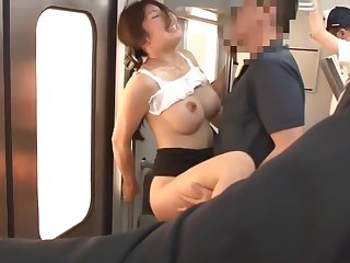 Japanese Bus Abused Out of reach of Train