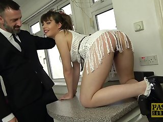 Gagged spoil is ready to let her master rip scan her ass