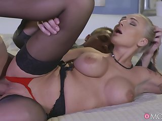 Hot ass blonde wife Kayla Green moans while getting fucked
