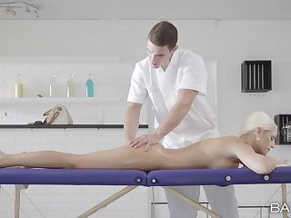 Blanche Bradburry receives the best massage she had in ages