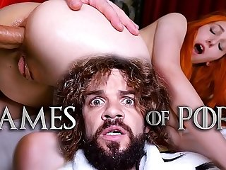Poor Lady Sansa (Elin Flame) has to let her mad midget husband Tyrion Fuckister charge stranger her botheration and pussy - #GameOfPorn Ep.4 stranger Jean-Marie Corda