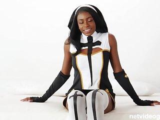Latex nun & hot cop complement up 4 cock!