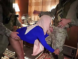 Stroke For BOOTY - American Soldiers Enjoying The Company For Sexy Arab Woman