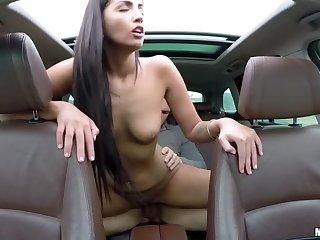 Hungarian Babe's Backseat Fuck