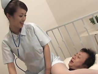 Kinky Asian watch over Ami Matsuda spreads her legs to ride a patient