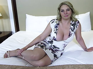 Big ass and titties tow-haired MILF