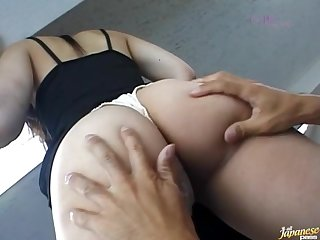 Big cock for her furry cunt in excellent Japanese tryout