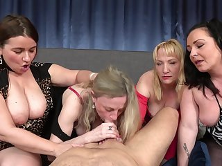 Group dick sucking with mature neighbors Renata added to Victoria