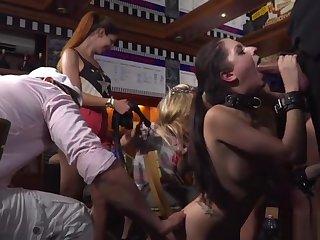 Mistress made brunette oral in develop b publish bar