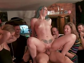Taped wrists and mouth gal public fucked