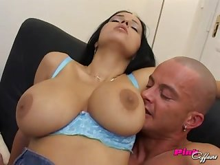 Anal sex and blowjob are the best activity for busty Laura Lion