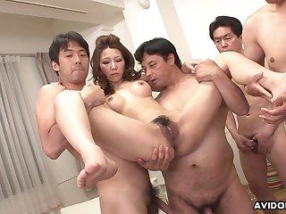 Japanese milf, Nagisa Kazami got gangbanged, uncensored