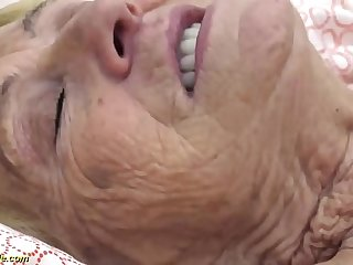 sexy queasy 90 time eon old granny banged apart from her toyboy
