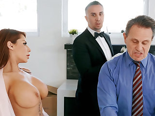 Horny butler is ready helter-skelter anal fuck housewife