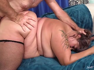 Big ass BBW Veruca Follower groupie gets say no to buxom pussy stretched in doggystyle