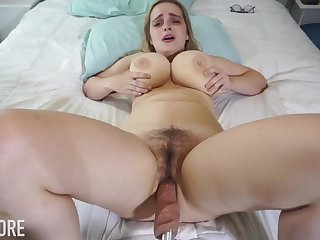 Huge-Boobed platinum-blonde girl, Codi Vore is opening up will not hear of gams broad open to the fullest extent a finally not by any stretch of the imagination a fuckin' machine