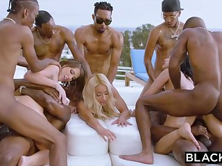 Teanna Trump, Adriana Chechik and Vicki Chase are orgying during a vacation, with dark-hued men