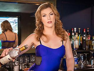 VR BANGERS Naughty shacking up up skinny barmaid winning pub