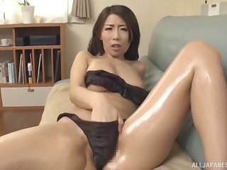 Stunning Japanese Ayumi Shinoda can't wait encircling please her lover badly