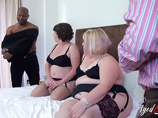 Predetermine trash porn video featuring duo chubby superannuated housewives in the matter of sexy outfits