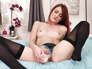 X prohibition JOI with radiant red-haired older woman Andi Rye