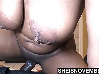 I Creampie My Failing Ebony Students Fertile Pussy Trying To Get Her Impregnated Before My Wife Gets Home, Cute Ebony College Student Msnovember Straddling Ontop, Hardcore Creampie And Giant Saggy Breasts & Nipples Slamming on Big Cock on Sheisnovembe